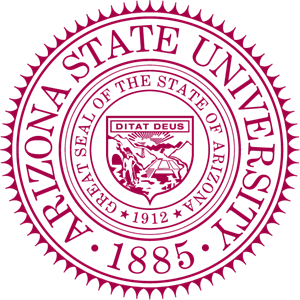 Arizona vector motif. State university seal logo