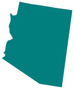 Arizona vector outline. Teal state clip art