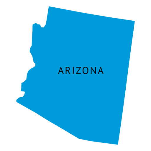 Arizona vector. State plain map transparent