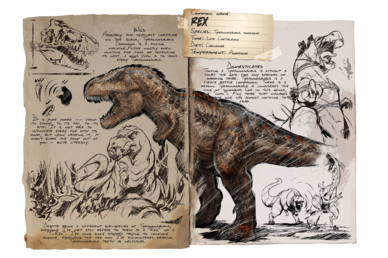 Trex png red. Rex official ark survival