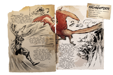 Ark parachute png. Archaeopteryx official survival evolved