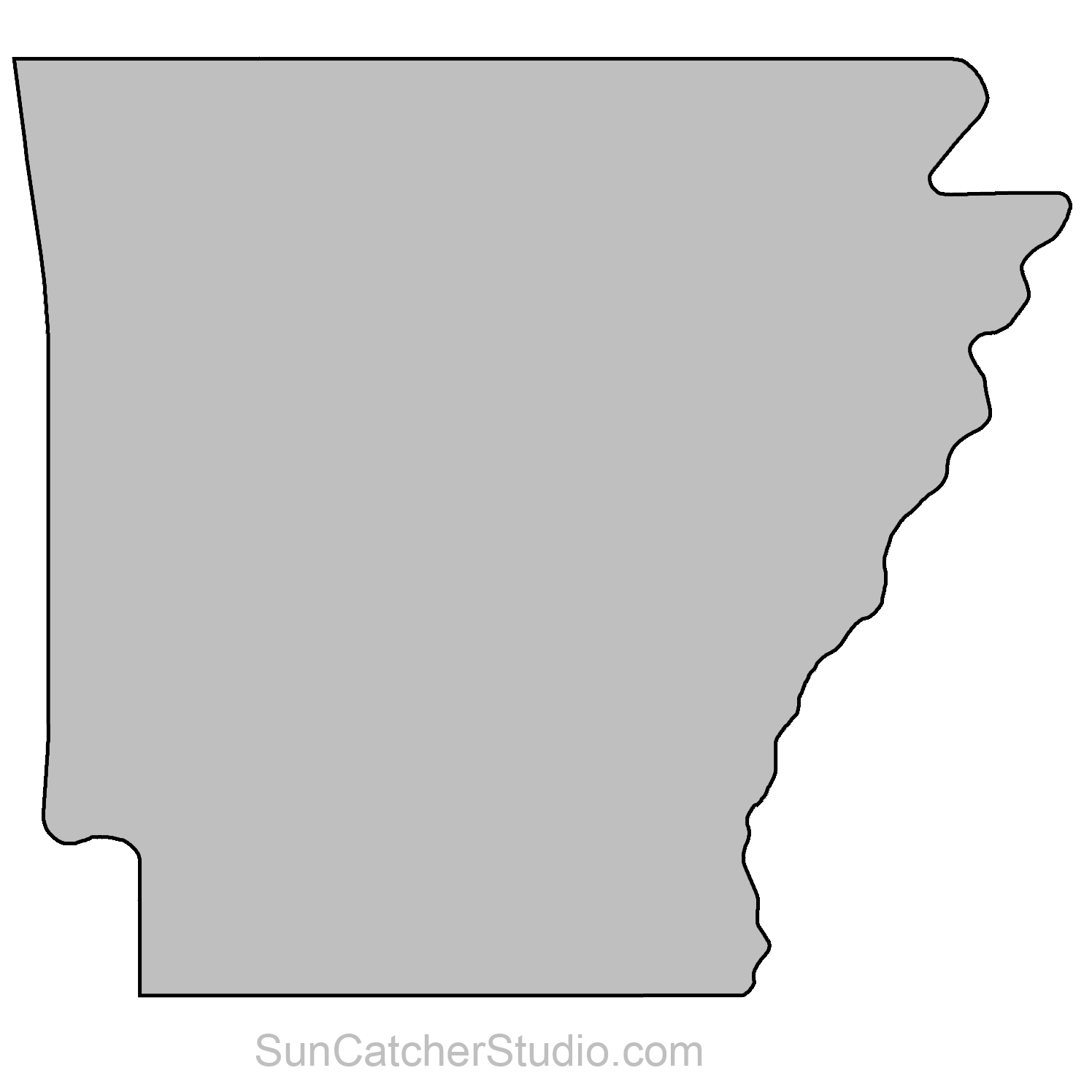 Arkansas svg shape. Outline pattern png pixels