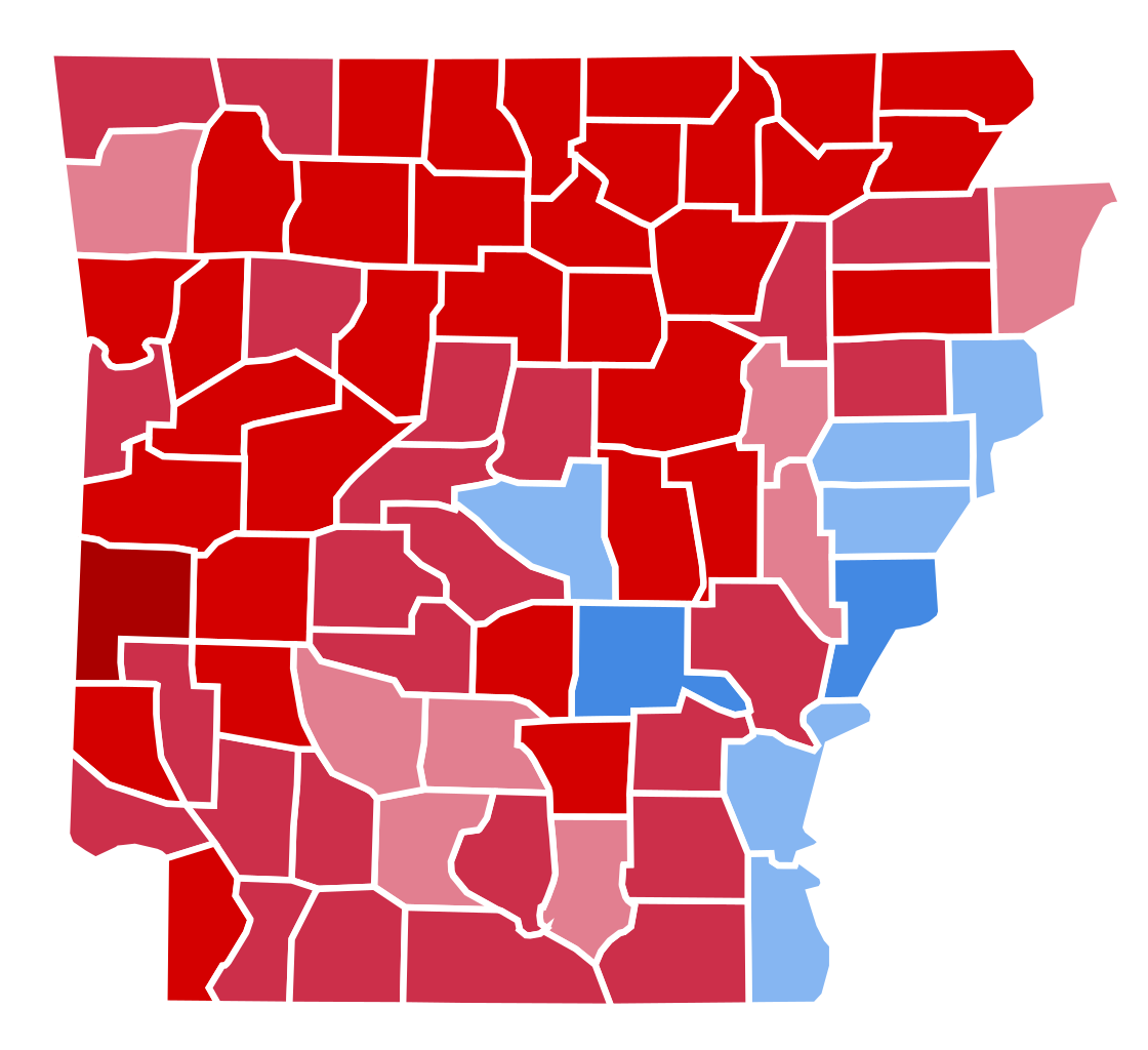 Arkansas svg red. File presidential election results