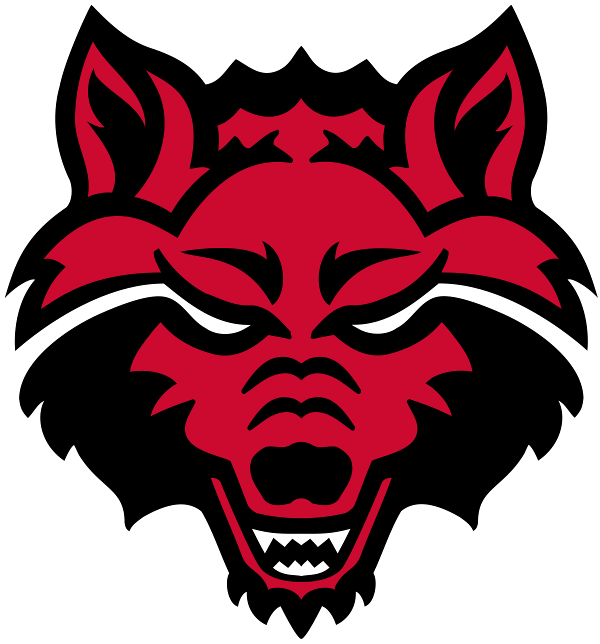 Arkansas svg red. State wolves wikipedia
