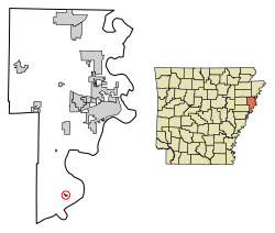 Arkansas svg shape. Horseshoe lake wikipedia location