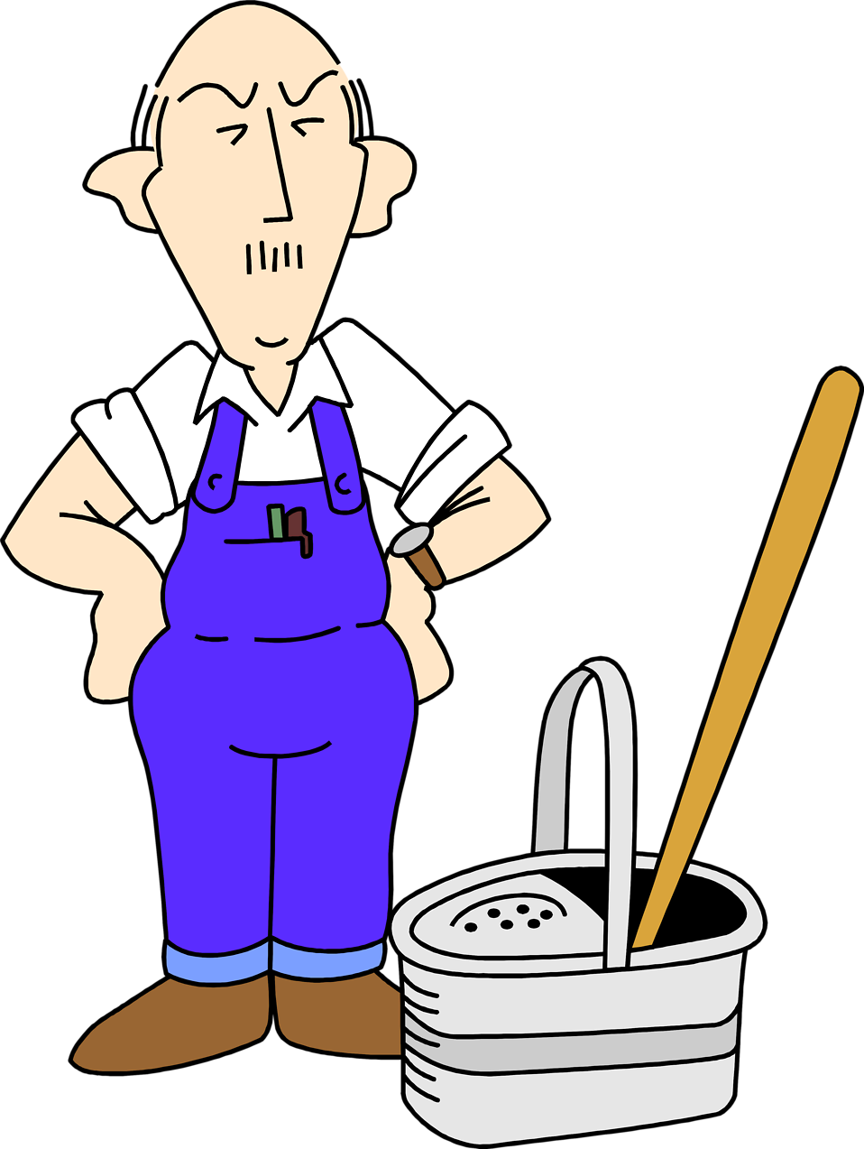 Janitor clipart kid. Cleaning both genders