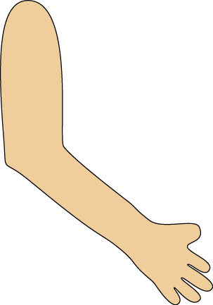 leg clipart outstretched arm