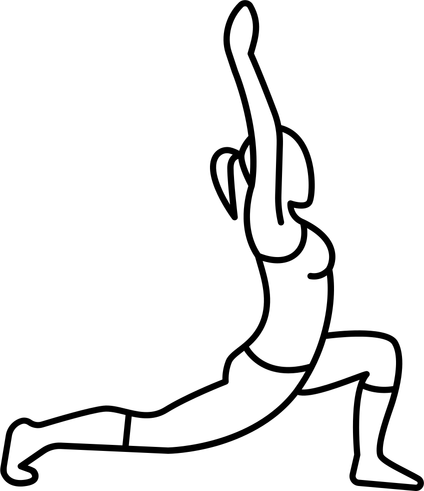 Drawing leg. Woman stretching and flexing