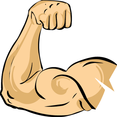 Biceps drawing ripped arm. Collection of muscle