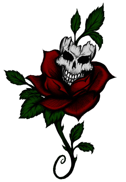Razor drawing rose tattoo