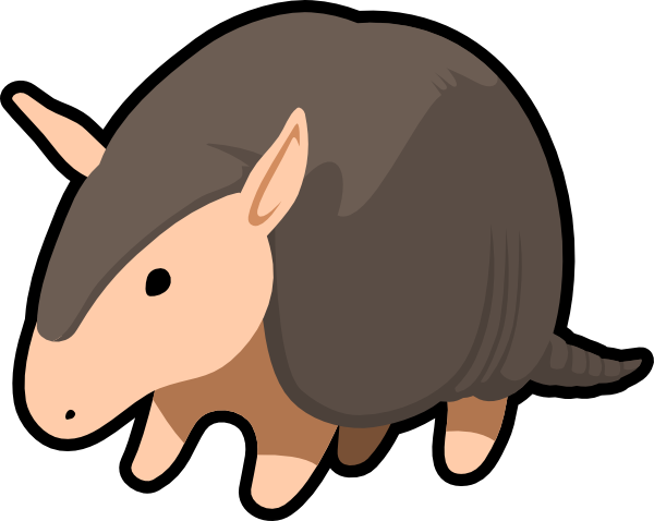 Armadillo clipart image black and white library