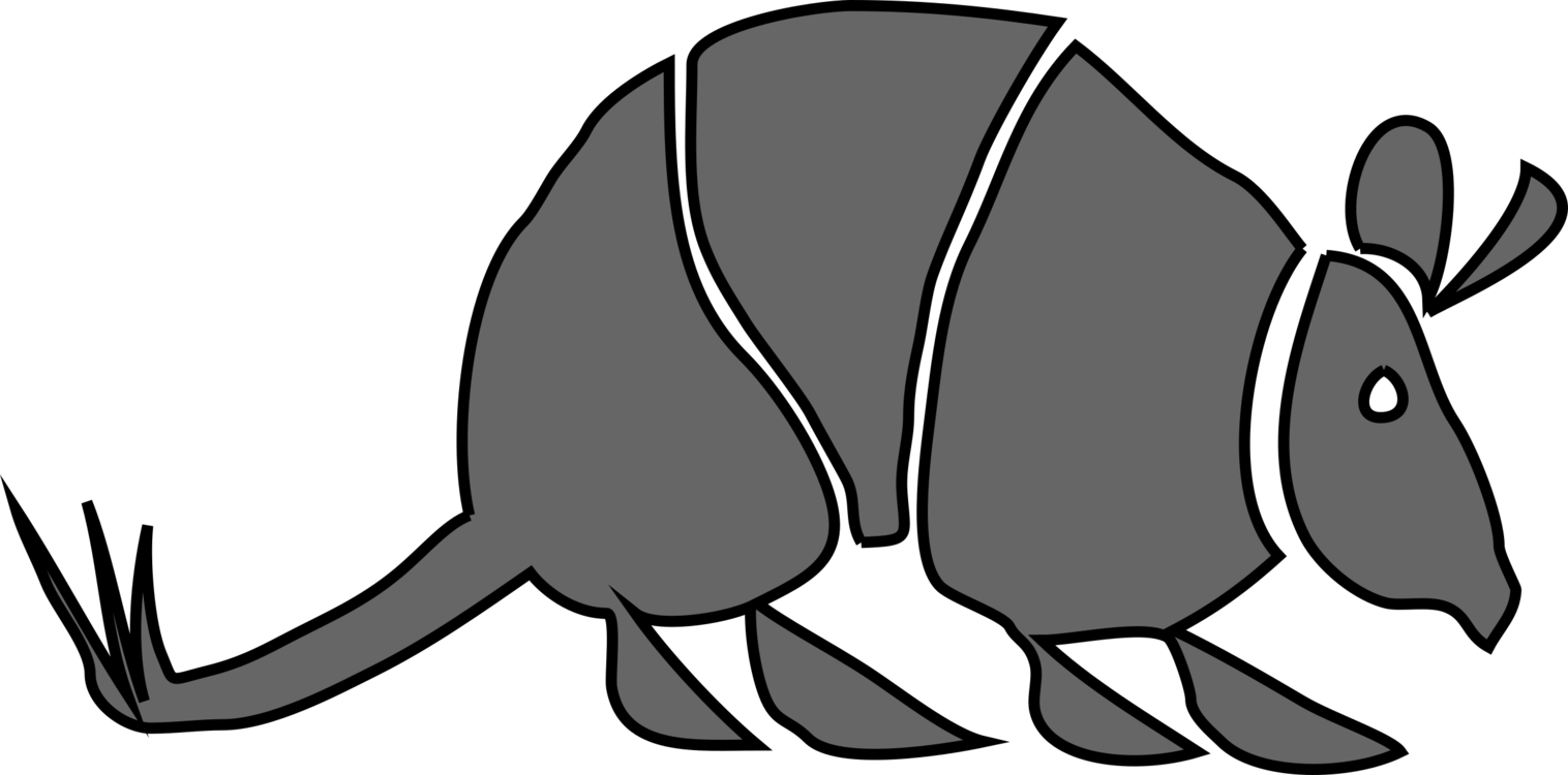 Armadillo clipart. Download drawing animal free