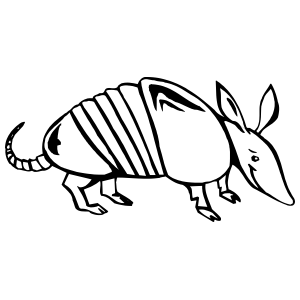 Armadillo clipart. Ugly detailed sticker