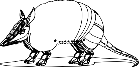 Armadillo clipart. Clipartist net artfavor black