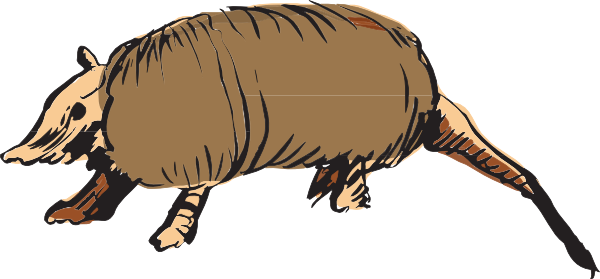 Clip art at clker. Armadillo clipart cool freeuse download