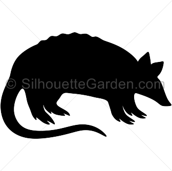 Silhouette . Armadillo clipart cool clipart library