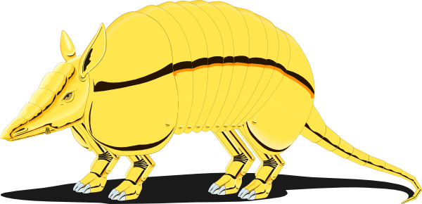Golden clip art at. Armadillo clipart cool jpg transparent library