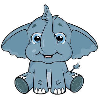 Jewel clipart for free. Drawing elephants adorable clip black and white download