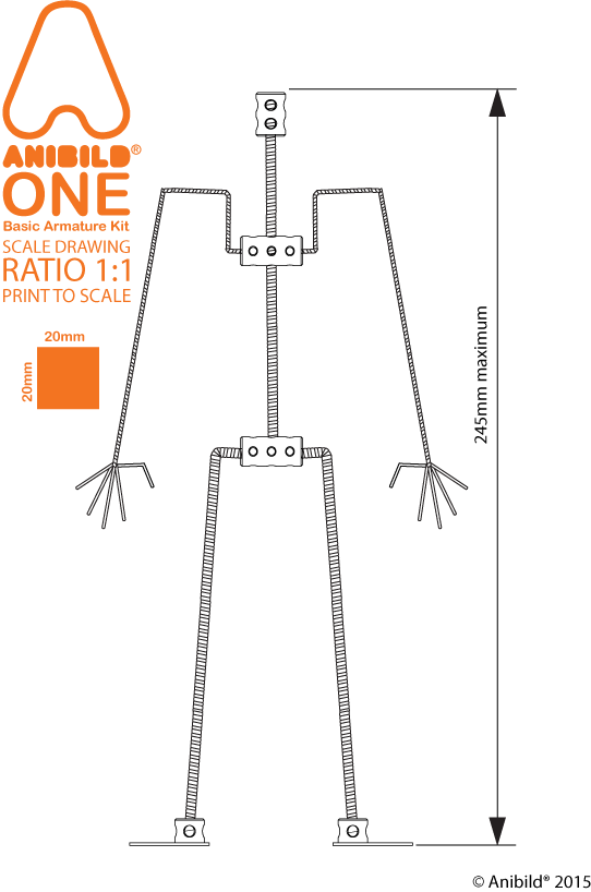 Armature drawing technical. Anibild one wire kit