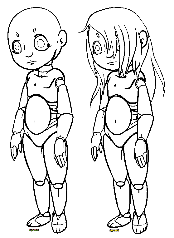 Armature drawing doll. Free use robotic by
