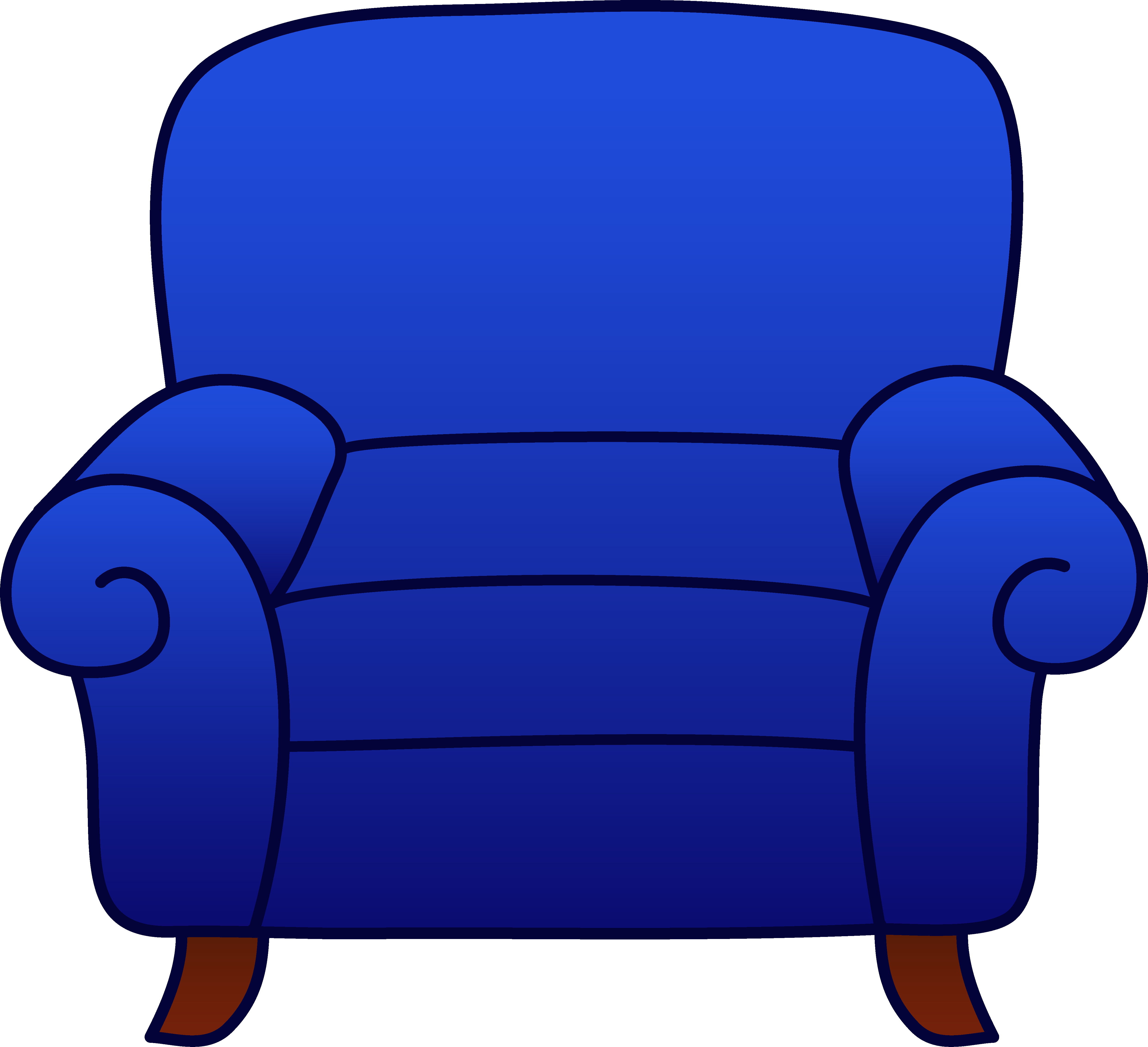 Armchair drawing comfy chair. Blue clipart free clip