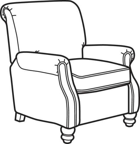 Armchair drawing easy. Collection of chair