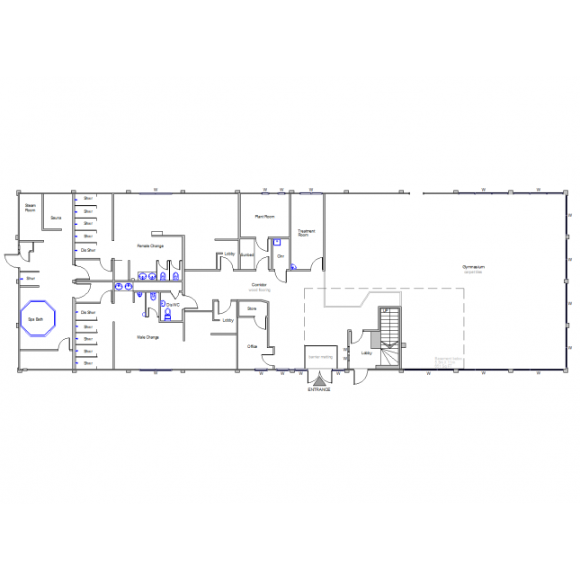 Armchair drawing floor plan. D cad gymnasium