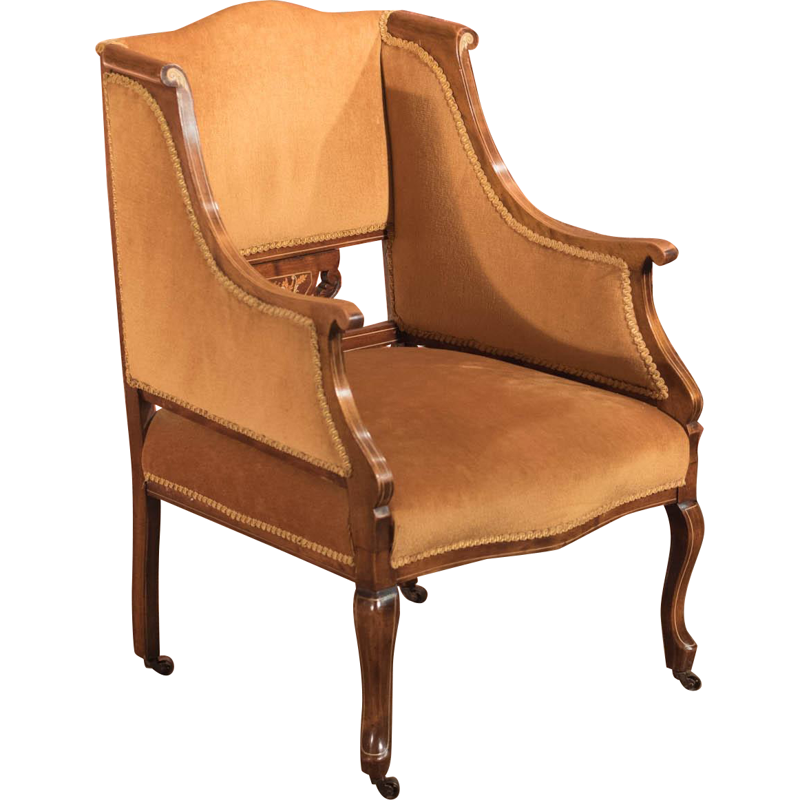 Armchair drawing victorian chair. Edwardian room c at