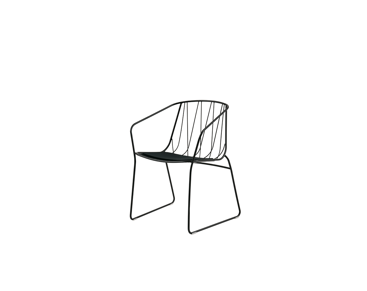Armchair drawing furniture line. Chee chair with arms