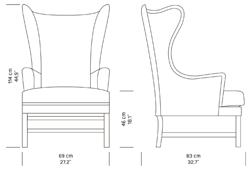 Armchair drawing furniture line. Chair measurements google search