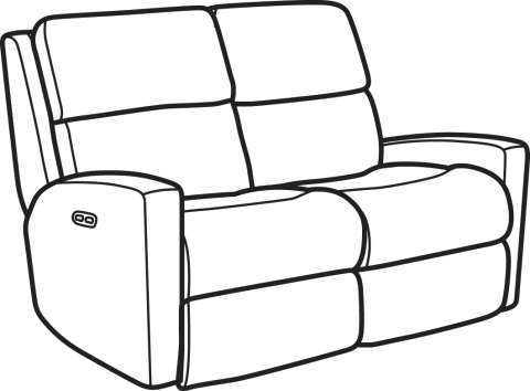 Chair clip recliner. Sofa black and
