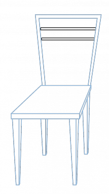 Drawing chairs dining room. How to draw a