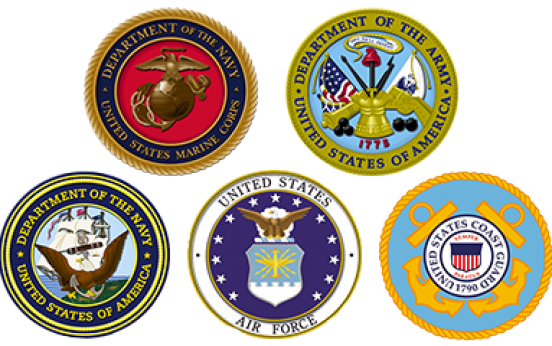 Armed forces logos png. United states military bases