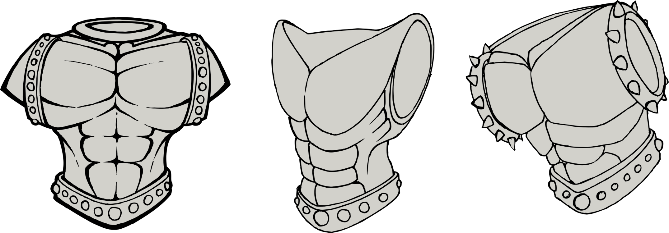 Armor vector breastplate. Plate armour body computer