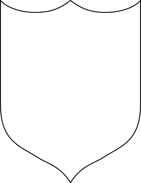 Armor vector shield template. Easy knights costume no