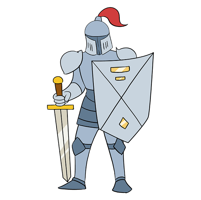 Armour drawing cartoon. How to draw a