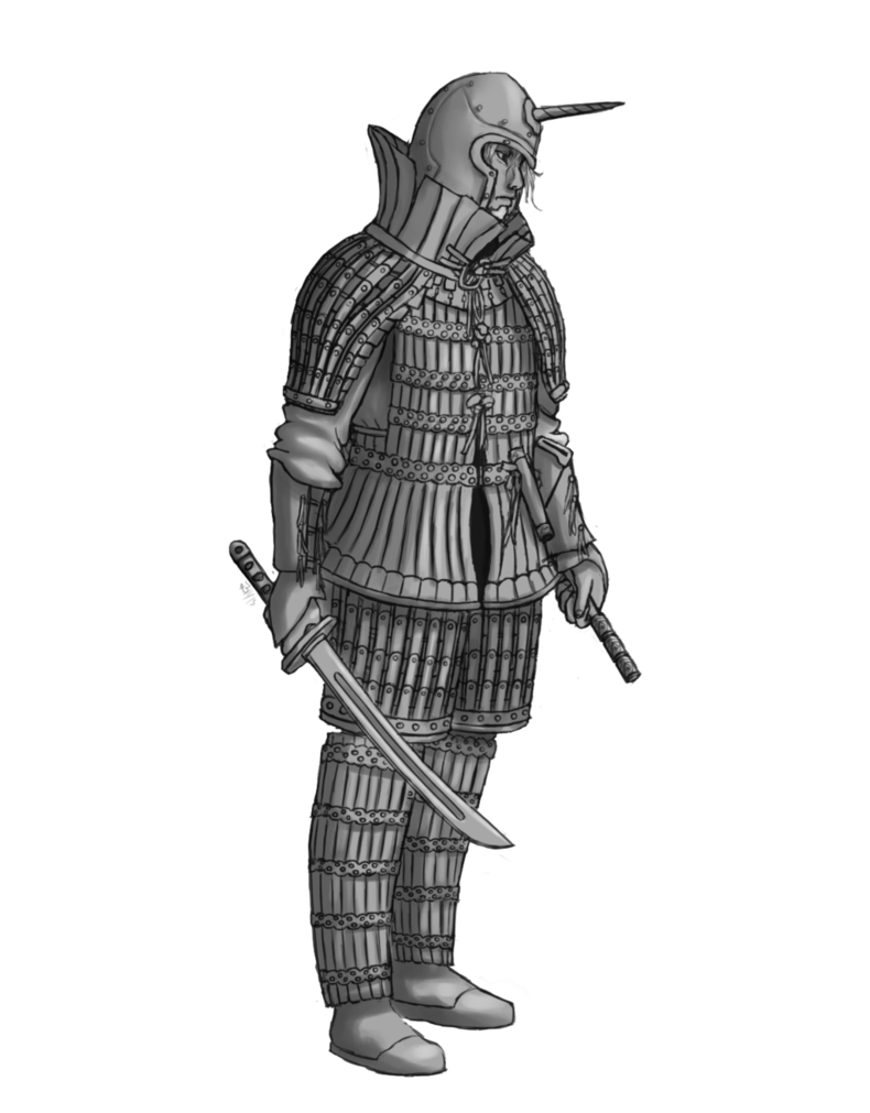 Armour drawing elf. Lowland soldier by wilsont