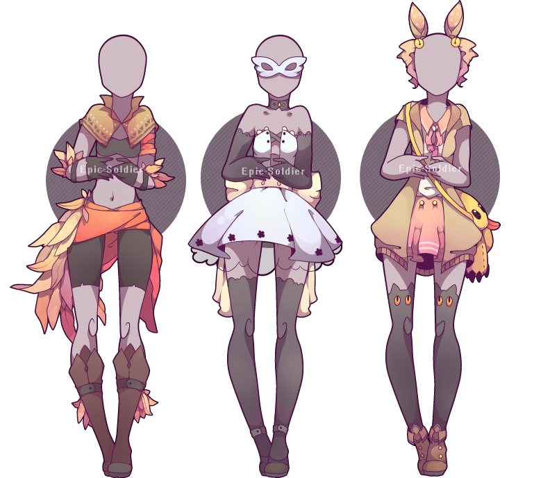 Drawing 2016 fashion design. Outfit adoptable closed by