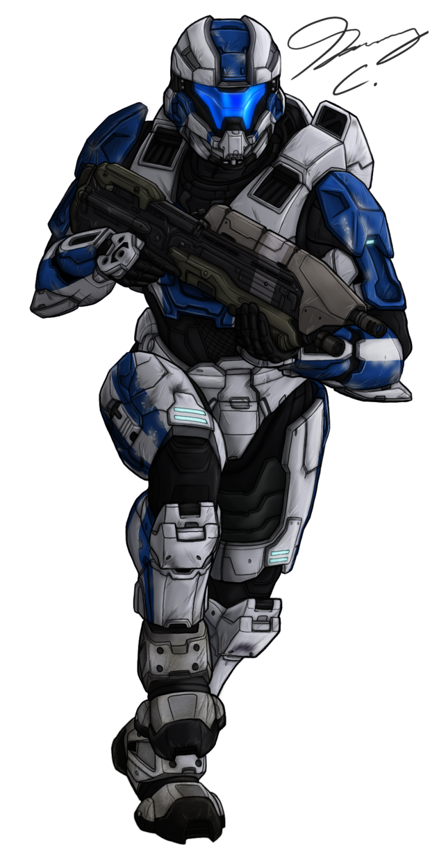 Commission spartan archangel by. Odst drawing female clip art library stock