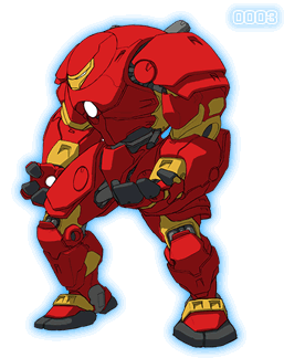 Scanned drawing iron man. Hulkbuster armor armored adventures