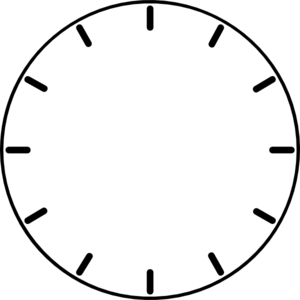 Clock without hands png