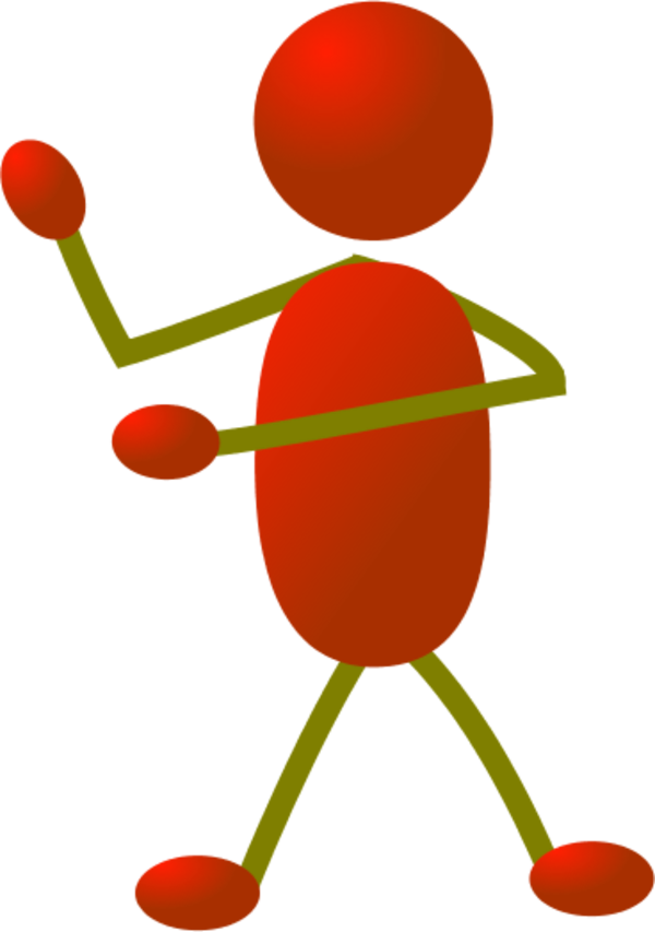 Stick clipart arm. Man figure using arms