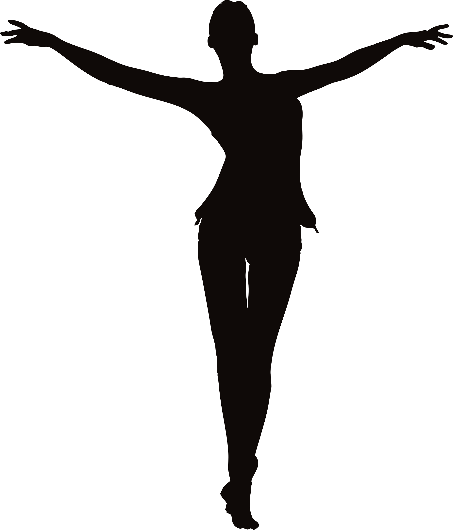 silhouette of outstreched arms png