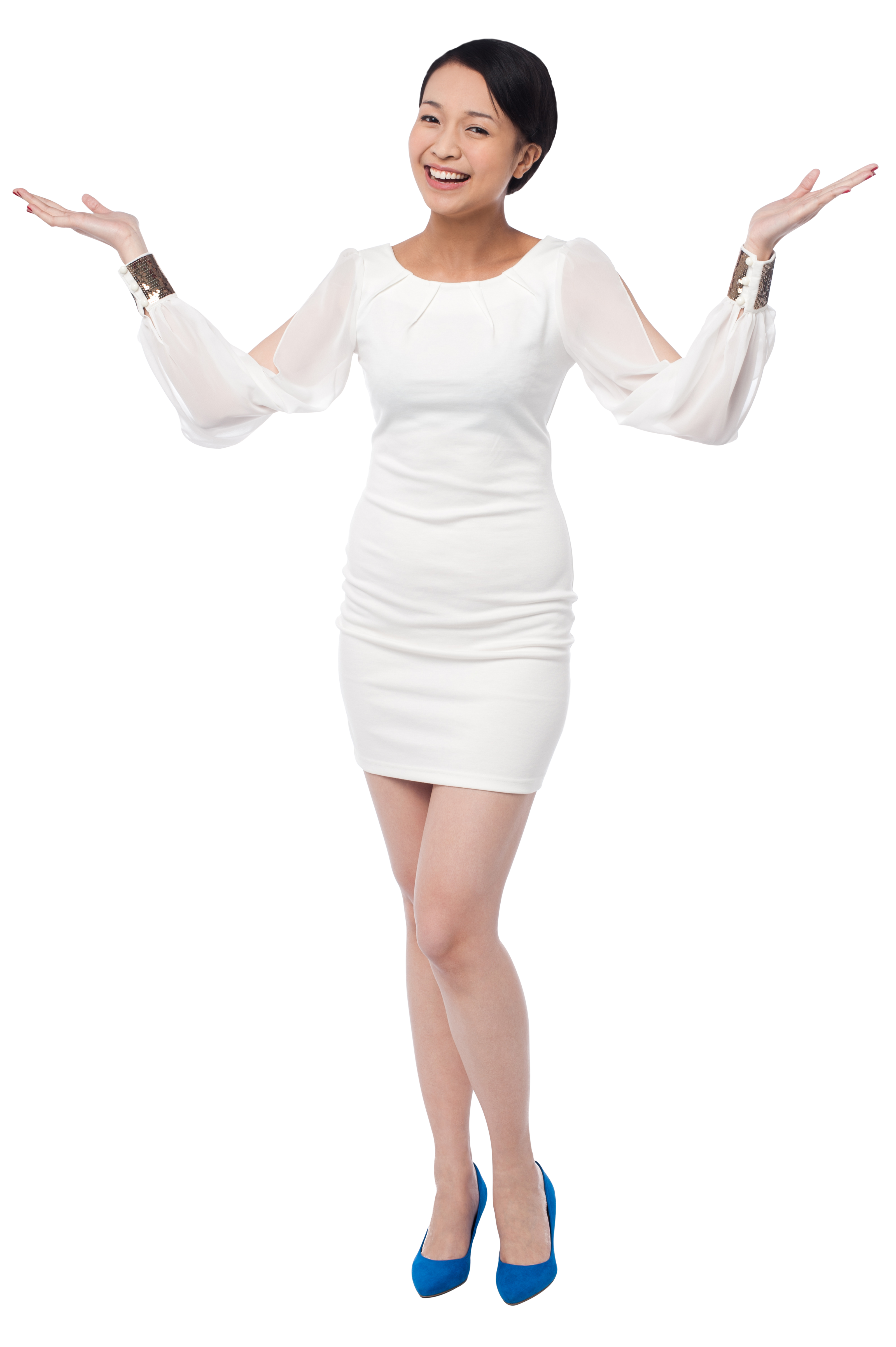 Free png images for commercial use. Women pointing both sides
