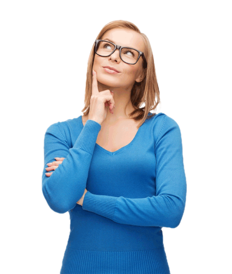 The transparent woman. Thinking png image purepng