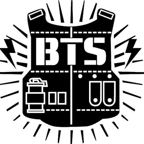 Explore more awesome logos. Army bts logo png jpg black and white download