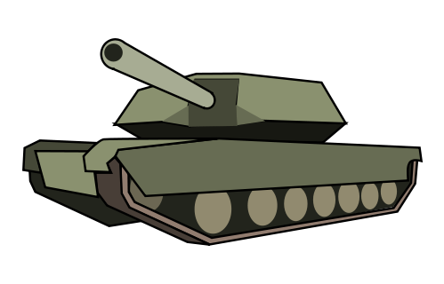 Green tank. Free army cliparts download