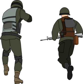 Fighting clipart war victory. Silhouette soldier military drawing