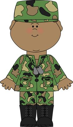 Army clipart army person. Military littleliagraphic soldier saluting