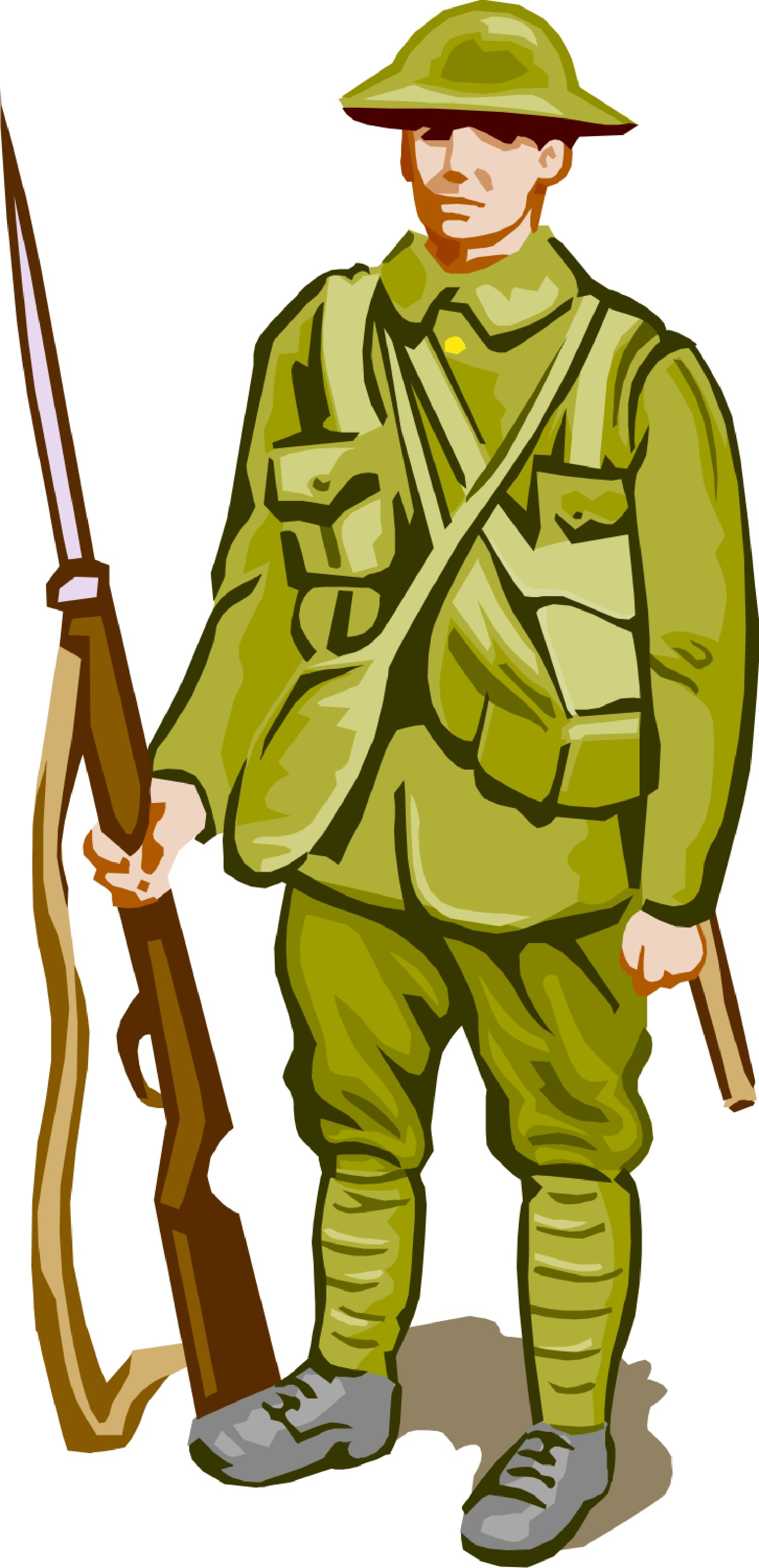 Army clipart army person. Military gun at getdrawings